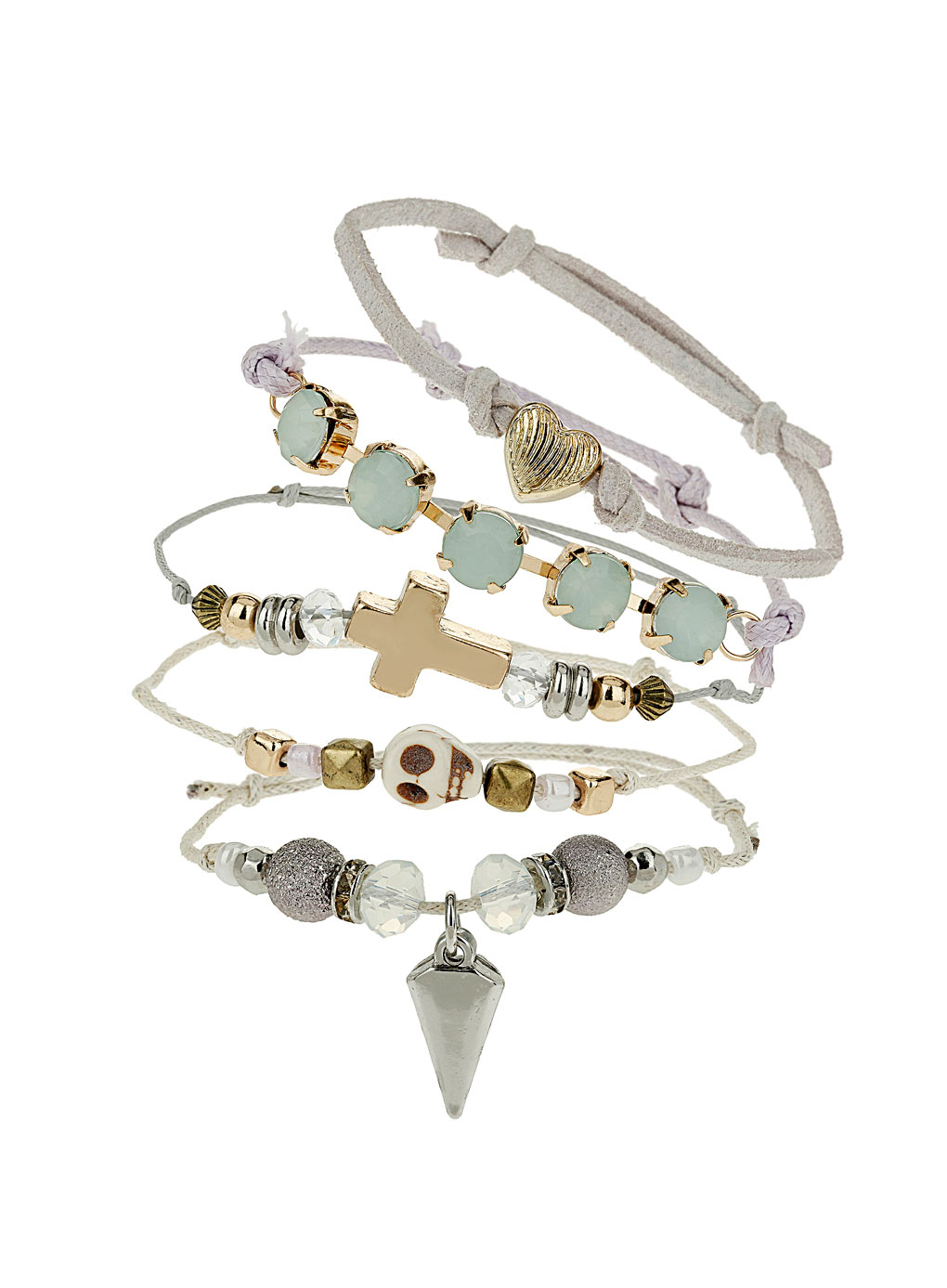 how to make stacked bracelets